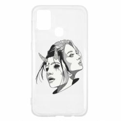 Чехол для Samsung M31 Girl and demon