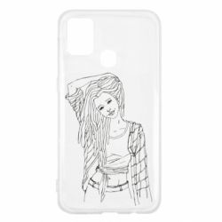 Чехол для Samsung M31 Girl with dreadlocks