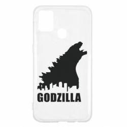 Чохол для Samsung M31 Godzilla and city