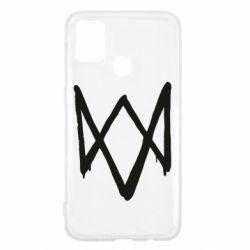 Чехол для Samsung M31 Graffiti Watch Dogs logo