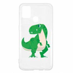 Чохол для Samsung M31 Green little dinosaur