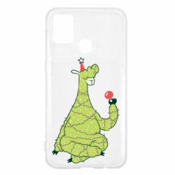 Чехол для Samsung M31 Green llama with a garland
