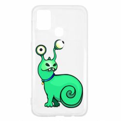Чехол для Samsung M31 Green monster snail