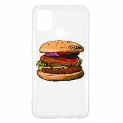 Чехол для Samsung M31 Hamburger hand drawn vector