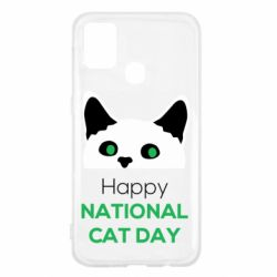 Чехол для Samsung M31 Happy National Cat Day