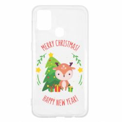 Чехол для Samsung M31 Happy new year and deer