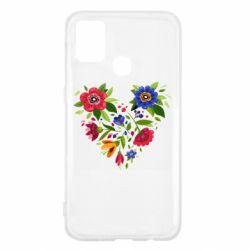 Чехол для Samsung M31 Heart made of flowers vector