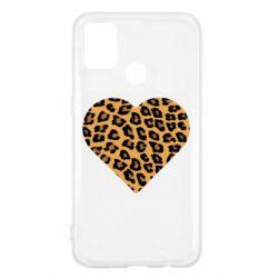 Чехол для Samsung M31 Heart with leopard hair