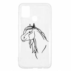 Чехол для Samsung M31 Horse contour