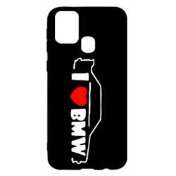 Чехол для Samsung M31 I love BMW