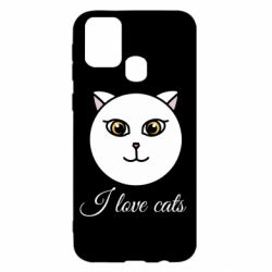 Чохол для Samsung M31 I love cats art
