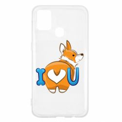 Чехол для Samsung M31 I love you corgi