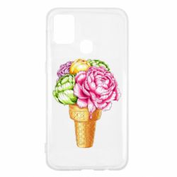 Чохол для Samsung M31 Ice cream flowers