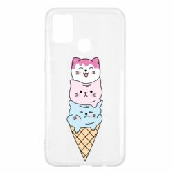 Чехол для Samsung M31 Ice cream kittens