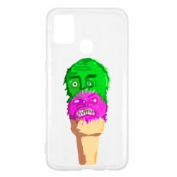 Чехол для Samsung M31 Ice cream with face