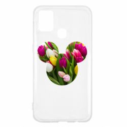 Чохол для Samsung M31 Inner world flowers mickey mouse