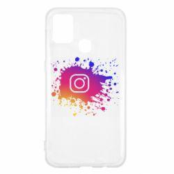 Чехол для Samsung M31 Instagram spray