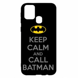 Чехол для Samsung M31 KEEP CALM and CALL BATMAN