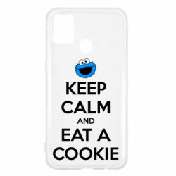 Чехол для Samsung M31 Keep Calm and Eat a cookie