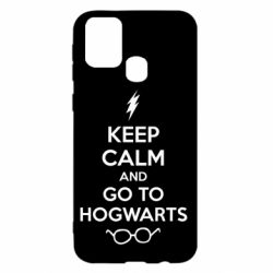 Чехол для Samsung M31 KEEP CALM and GO TO HOGWARTS