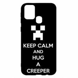 Чехол для Samsung M31 KEEP CALM and HUG A CREEPER