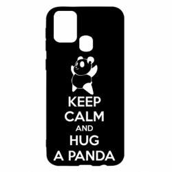 Чохол для Samsung M31 KEEP CALM and HUG A PANDA