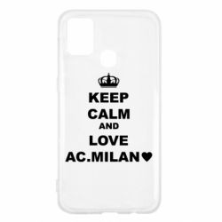 Чохол для Samsung M31 Keep calm and love AC Milan