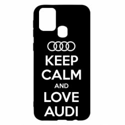 Чехол для Samsung M31 Keep Calm and Love Audi