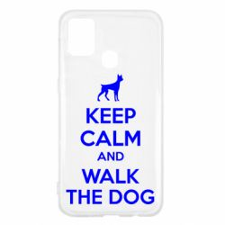 Чохол для Samsung M31 KEEP CALM and WALK THE DOG