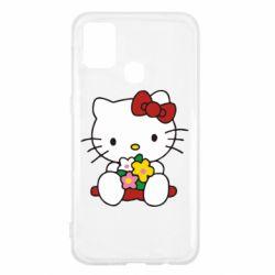 Чехол для Samsung M31 Kitty с букетиком