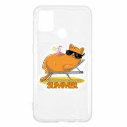 Чохол для Samsung M31 Котик на пляжі