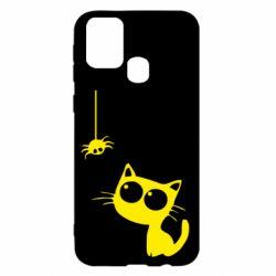 Чехол для Samsung M31 Котик и паук