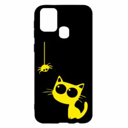 Чохол для Samsung M31 Котик і павук