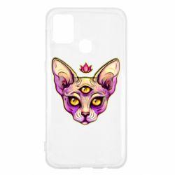 Чохол для Samsung M31 Котик сфінкс рожевий