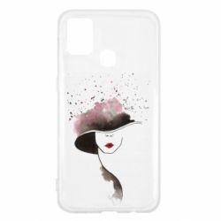 Чехол для Samsung M31 Lady in a hat