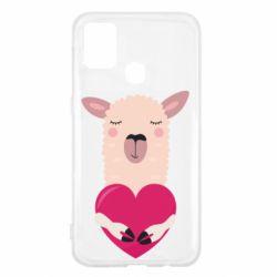Чохол для Samsung M31 Lama with heart
