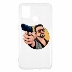 Чохол для Samsung M31 Лебовськи з пістолетом