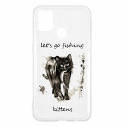 Чехол для Samsung M31 Let's go fishing  kittens