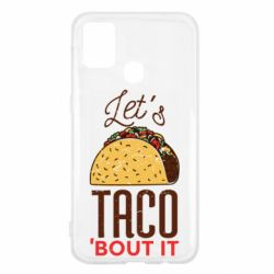 Чехол для Samsung M31 Let's taco bout it
