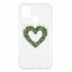 Чехол для Samsung M31 Lilies of the valley in the shape of a heart