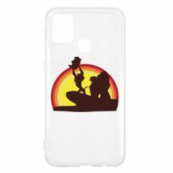 Чехол для Samsung M31 Lion king silhouette