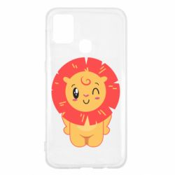 Чехол для Samsung M31 Lion with orange mane