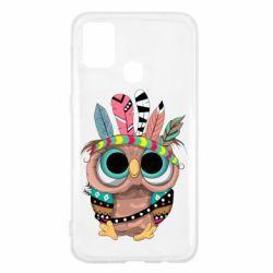 Чохол для Samsung M31 Little owl with feathers