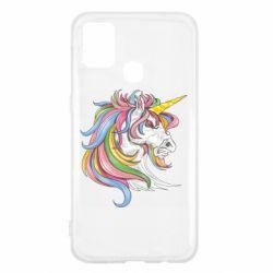 Чохол для Samsung M31 Кінь з кольоровою гривою