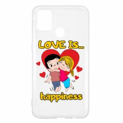 Чохол для Samsung M31 love is...happyness