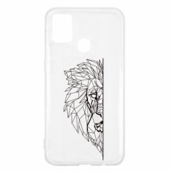 Чохол для Samsung M31 Low poly lion head