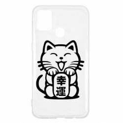 Чехол для Samsung M31 Maneki-neko, cat bringing luck