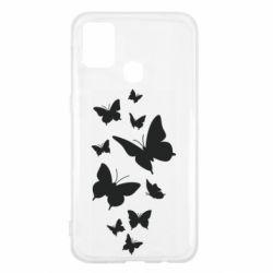 Чохол для Samsung M31 Many butterflies
