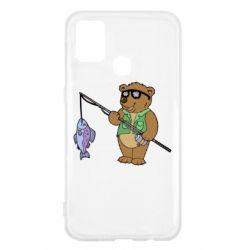 Чохол для Samsung M31 Ведмідь ловить рибу