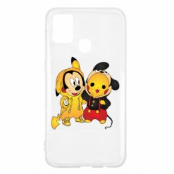 Чехол для Samsung M31 Mickey and Pikachu